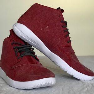 Jordan's Red Canvas Sneaker